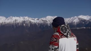 A Snowboarder in the Mountains | Stock Footage - Videohive