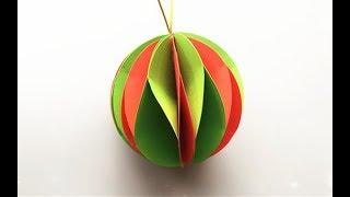ABC TV | How To Make Paper Ball Christmas Ornament - Craft Tutorial