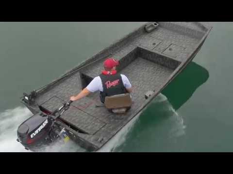 2015 Ranger 1652 Tiller Aluminum Jon Boat