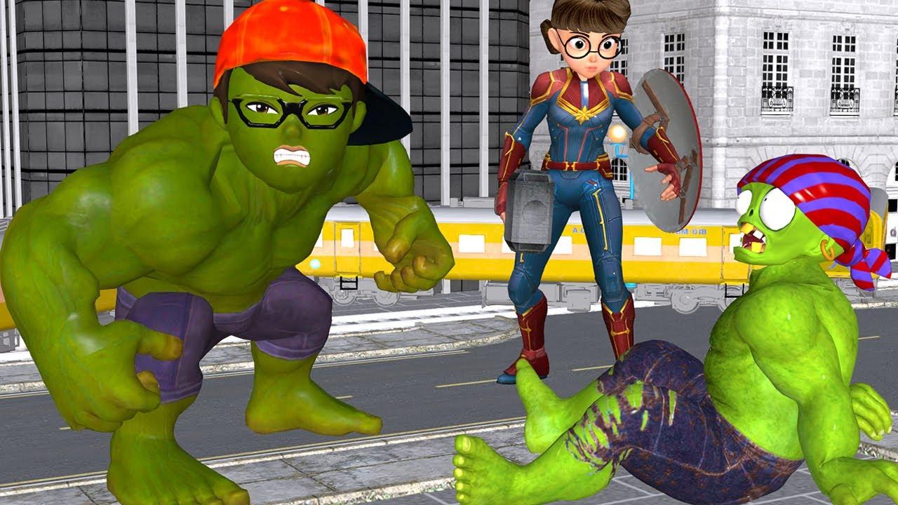 Scary Teacher 3D - NickHulk Rescue Captain-Marvel Tani Escape Giant Zombies Funny Games Animation