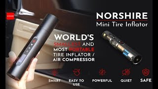 World's smallest and most portable tire Inflator and Air compressor !!!
