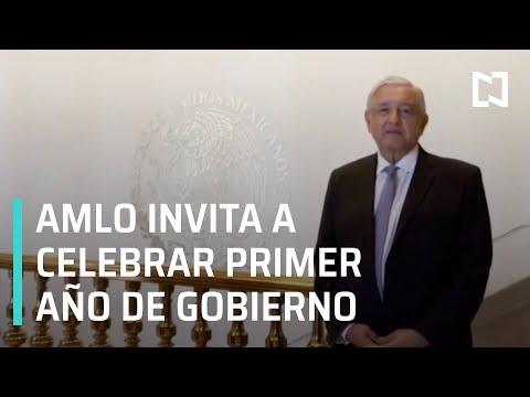AMLO invita a celebrar primer año de gobierno en el Zócalo - Las Noticias