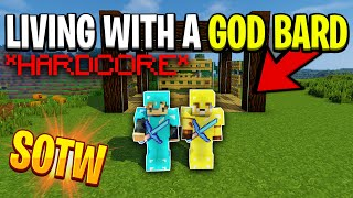 Living with a GOD bard SOTW!! *HARDCORE DUO* | Minecraft HCF