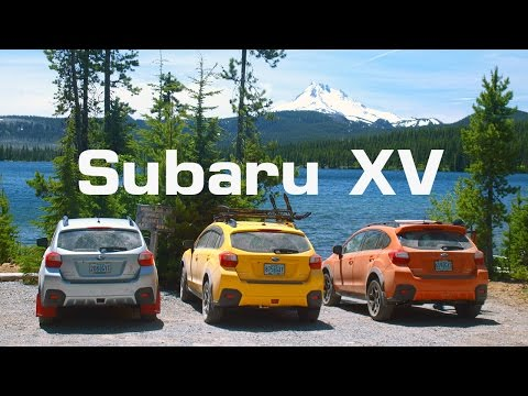 Three Subaru XV Crosstreks at Olallie Lakes Scenic Area, Oregon