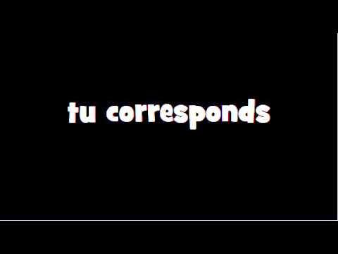 Conjugaison Correspondre Indicatif Present Youtube