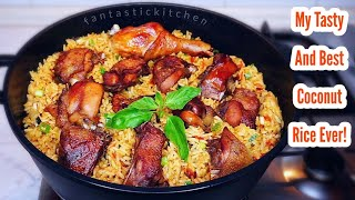 This is the best jollof rice you need for this summer | Very easy & tasty coconut jollof rice recipe