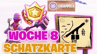 Follow the SCHATZKARTENWEGWEISER from PARADISE PALMS! | Fortnite Week 8 Ruin Skin