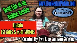 Real Life of an Online Reseller Update on Visitors & Sales HookedonPickin.com Create my own Website
