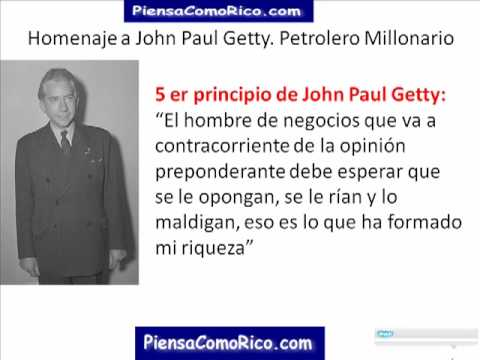 Homenaje a John paul getty