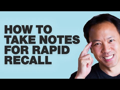 Kwik Brain Episode 13: How to Take Notes for Rapid Recall