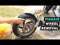 Piaggio Fly - Front Wheel Removal