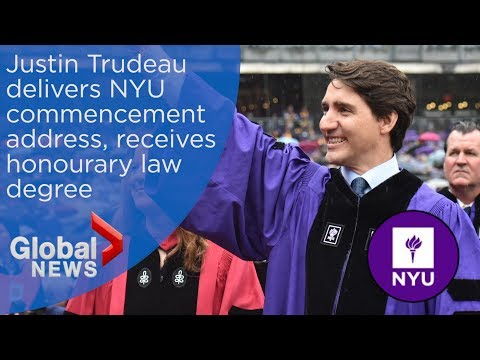WATCH LIVE: Justin Trudeau delivers NYU commencement speech at Yankee Stadium
