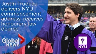 Justin Trudeau's FULL commencement speech to NYU grads at Yankee Stadium