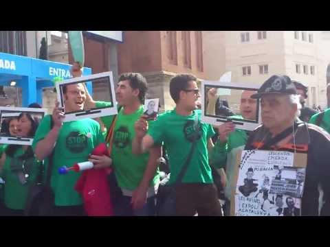Escrache a Rajoy en el Salon del Automovil, Barcelona 10/05/2013