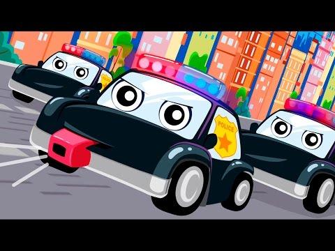 Мультики про машинки.Полицейские машинки Мультик песня Видео для детей Анимашка. Учим цвета песенка