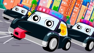 Мультики про полицейские машинки - Мультик песня! Видео для детей Анимашка  Учим цвета .