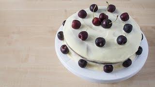 Домашний торт с черешней (вишней). Очень вкусный и простой рецепт