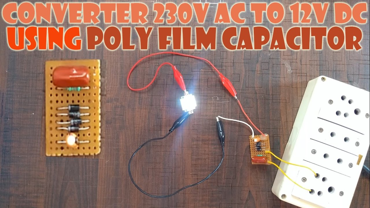 converter for 12v dc led light 230v ac to 12v dc using pf [ 1280 x 720 Pixel ]