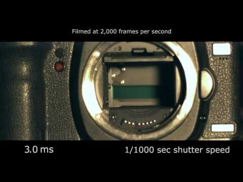 Slow motion camera shutter - Canon 5D Mark II 2,000 fps