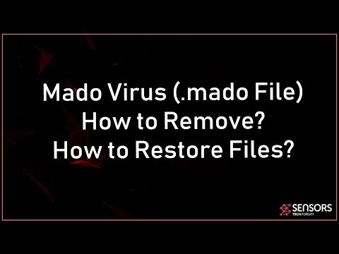 Mado Virus File (.mado) Remove And Restore Files