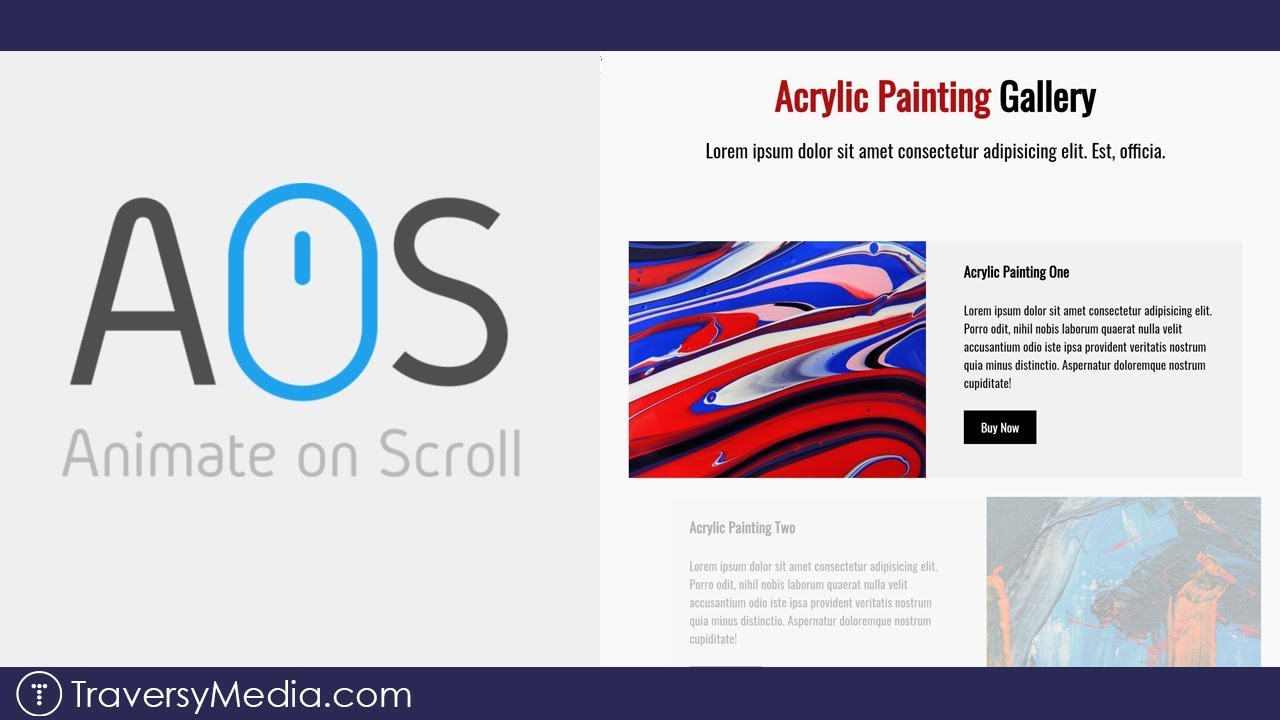 Animate On Scroll Webpage | AOS Library