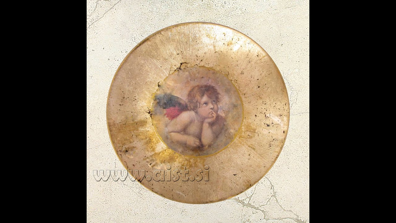Decoupage and Gilding. How to make old plate. tutorial DIY ...