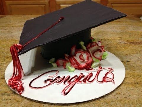Graduation Cap Cake Cake Decorating YouTube