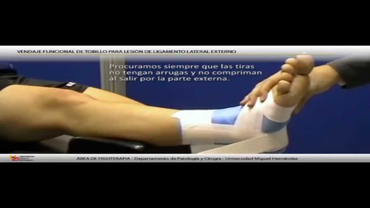 356 Pre A >> Vendaje funcional de tobillo para lesión de ligamento lateral externo. - YouTube