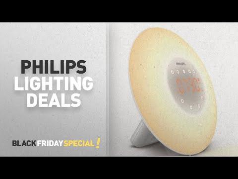Top Black Friday Philips Lighting: Philips Wake-Up Light Alarm Clock HF3505/01 with Sunrise