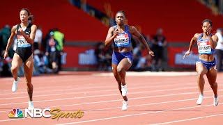 Bryant and Pinto duel to the line in riveting Diamond League 100m battle | NBC Sports