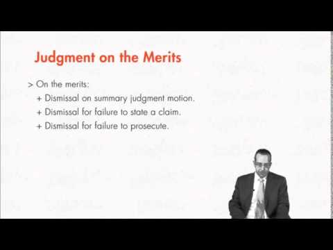 Module 6.5: Res Judicata Claim preclusion
