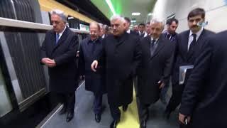Türkiye'nin Sürücüsüz İlk Metro Hattını Cumhurbaşkanı Test Etti