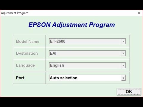 Reset Epson ET2600