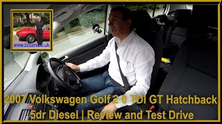 Review and Virtual Video Test Drive in our Volkswagen Golf 2 0 TDI GT Hatchback 5dr Diesel