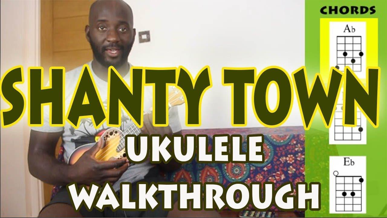 Desmond Dekker Shanty Town Easy 3 Chord Ukulele Tutorial