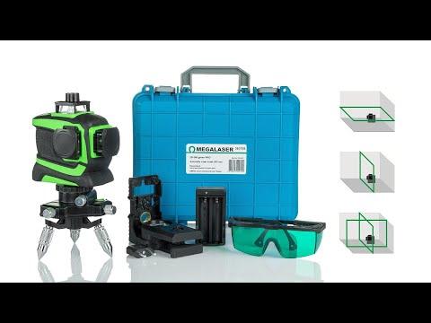 ЗЕЛЕНЫЙ лазерный уровень 3 х 360 градусов 3D-нивелир OMEGALASER 3D-360 Green PRO