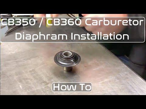 honda cb350 / cb360 carburetor diaphragm installation