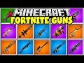Minecraft FORTNITE GUNS MOD | GOLD SCAR, ROCKET LAUNCHER, SHOTGUNS & MORE!!