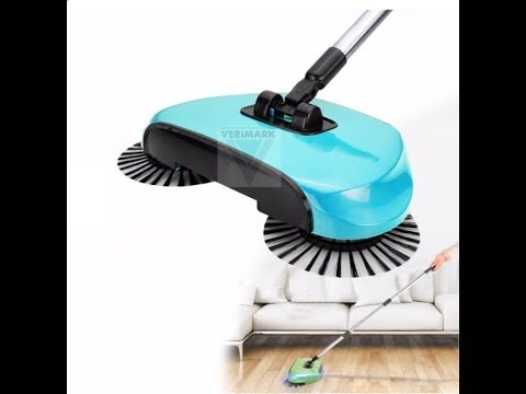 Hand Push Automatic Sweeper Stainless Steel Spin Broom Mop