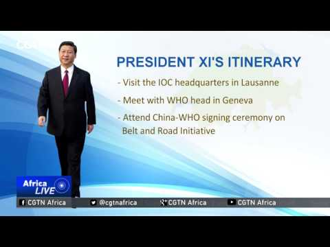 Chinese president's schedule for Wednesday