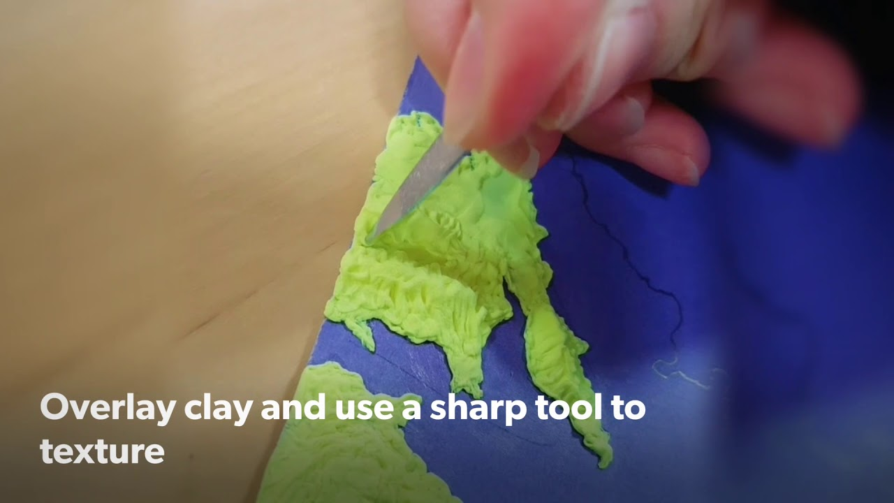 DIY Relief Clay Map Project on