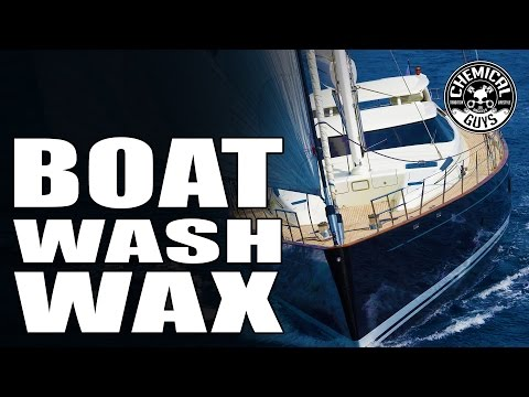 How to Wash a Boat -  Chemical Guys Boat Wash & Wax - Marine and Watercraft