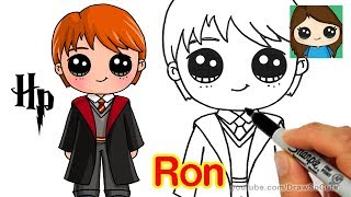 How to Draw Ron Weasley Easy | Harry Potter