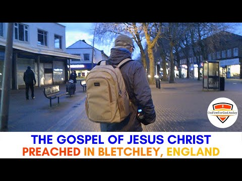 UK Street Preaching: Town Centre of Bletchley, Milton Keynes, England
