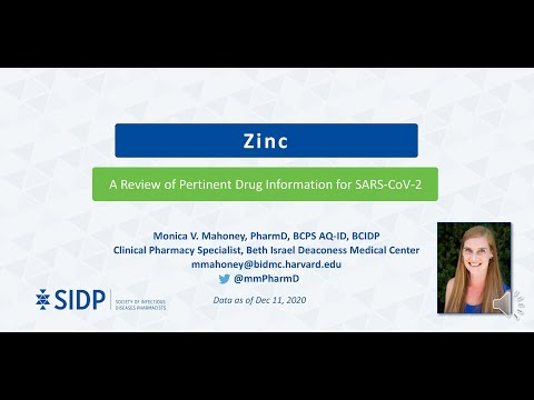 Zinc: Evidence-Based Health Information Related To COVID-19