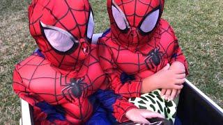 Spiderman maskesinin içinden Fatih selim çıktııı😂sonuna kadar izleyin,eğlenceli çocuk videosu