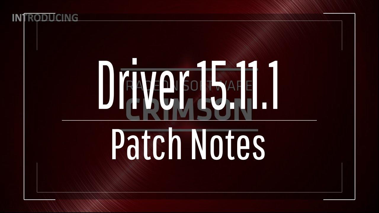 Amd releases radeon crimson edition 15. 11. 1 update software.