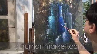 Видео урок живописи - Иранская бирюза