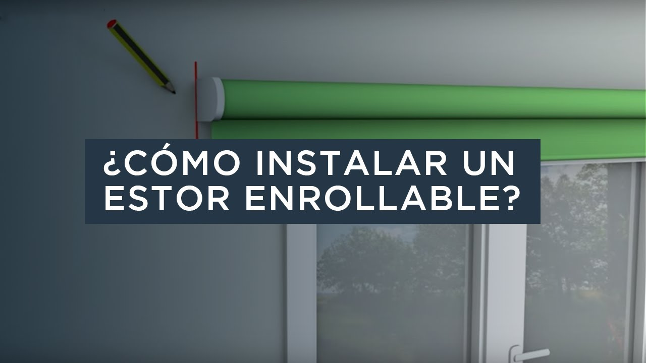 C mo instalar un estor enrollable stor planet youtube - Como colocar un estor ...
