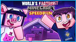 Minecraft but it's the slowest speedrun ever...